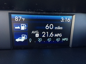 The color information screen in the Forester is a feature the XV Crosstrek does not have.