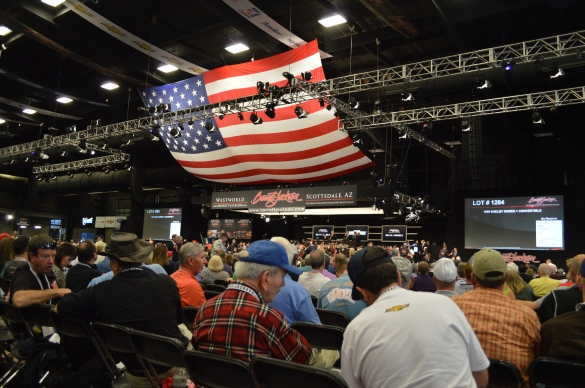 Way up front there is a car being auctioned. I already knew I was poor, and Barrett-Jackson only solidified that understanding for me.